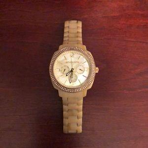 MK bone color watch